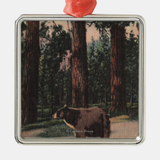 A Brown Bear in the Woods Christmas Ornament