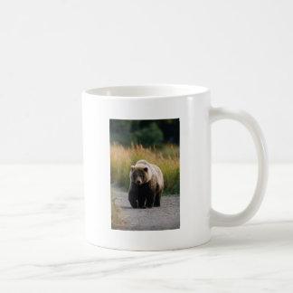 A Brown Bear Walking on a Trail Basic White Mug