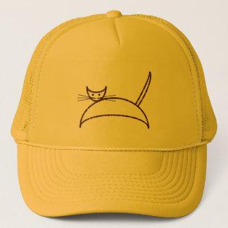 A brown cat hat