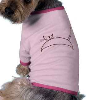 A brown cat pet clothing