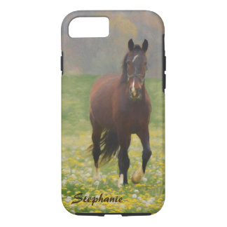 A Brown Horse in a Field with Dandelions iPhone 8/7 Case