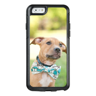 A Brown Puppy Wears A Colorful Bow Tie OtterBox iPhone 6/6s Case