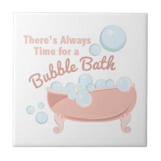 A Bubble Bath Small Square Tile