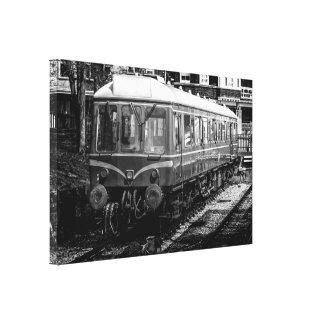 "A ""Bubble Car"" Class 121 British Rail vintage loco Canvas Print"