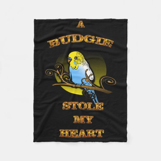 A Budgie Stole My Heart Fleece Blanket