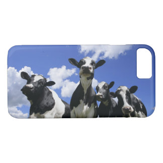 A bugs eye view of four young calves iPhone 7 case