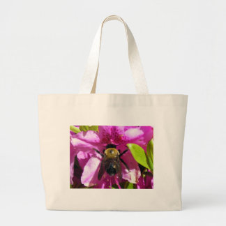 A Bumble Bee at work Canvas Bag