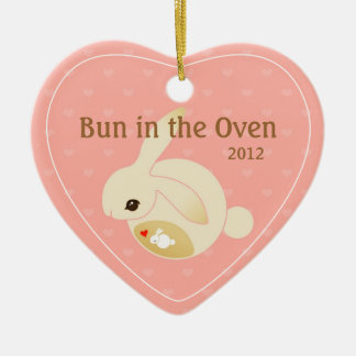 a BUN in the oven (pink) Christmas Ornament