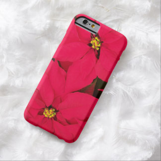 A bunch of Brightly Colored Christmas Poinsettias Barely There iPhone 6 Case