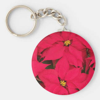 A bunch of Brightly Colored Christmas Poinsettias Key Chains