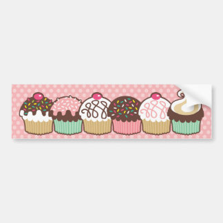 A Bunch of Cupcakes Bumper Sticker Decal