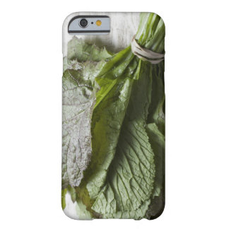 A bunch of fresh mustard greens, from a farmer's barely there iPhone 6 case