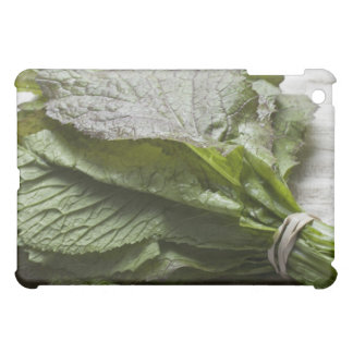 A bunch of fresh mustard greens, from a farmer's iPad mini cases