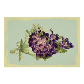 A Bunch of Purple Flowers Poster