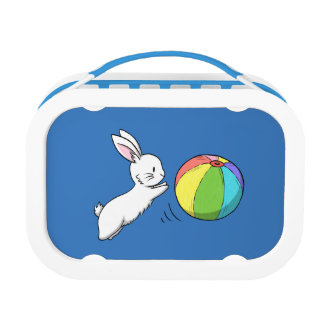 A bunny and a ball lunch box