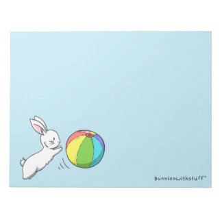 A bunny and a ball notepad
