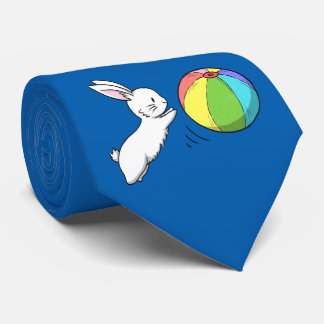 A bunny and a ball tie