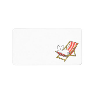 A bunny and a deckchair Address Labels