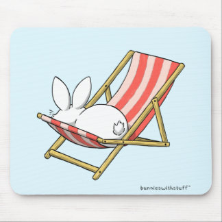 A bunny and a deckchair mouse mat