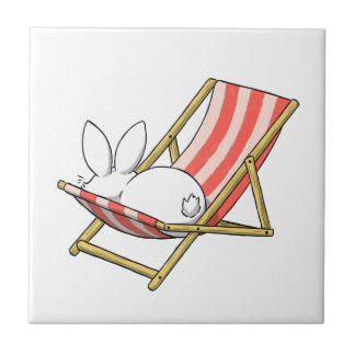 A bunny and a deckchair tile