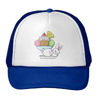 A bunny and an ice cream cap