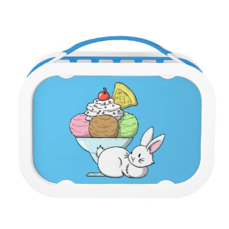 A bunny and an ice cream lunchbox