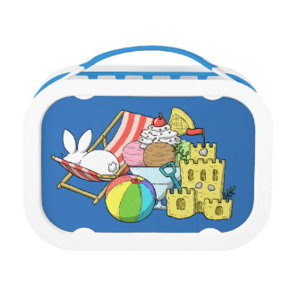 A bunny at the beach lunch box