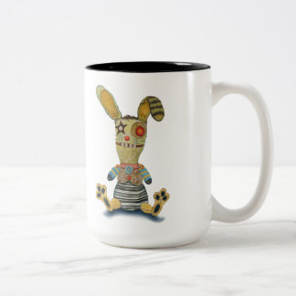 A Bunny on my Toes Two-Tone Mug