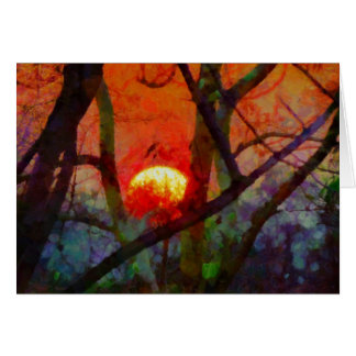 A Burmese Sunset Greeting Card