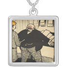 A business man and his client silver plated necklace