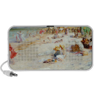 A Busy Beach in Summer Mini Speakers