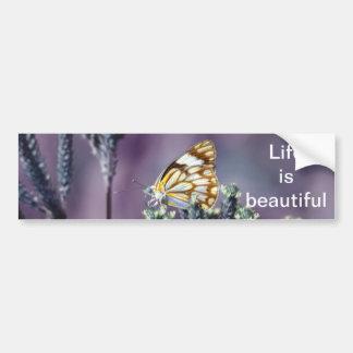 A butterflies beautiful life car bumper sticker