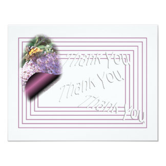 A Butterfly Thank You-customize any occasion 11 Cm X 14 Cm Invitation Card