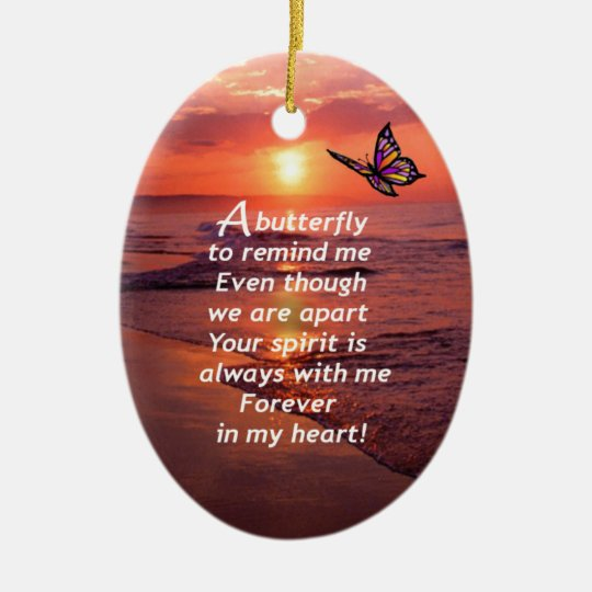 A Butterfly to Remind Me Christmas Ornament