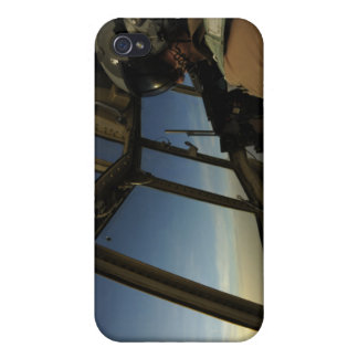 A C-130 Hercules pilot scans the horizon Covers For iPhone 4