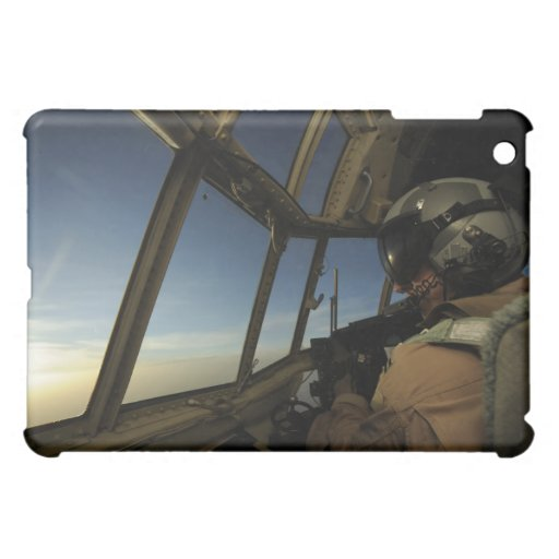 A C-130 Hercules pilot scans the horizon iPad Mini Covers