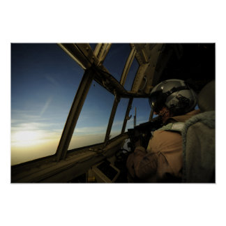 A C-130 Hercules pilot scans the horizon Print