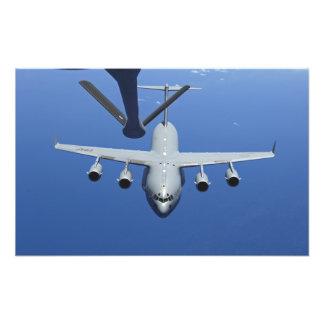 A C-17 Globemaster III approaches the boom Photo Print