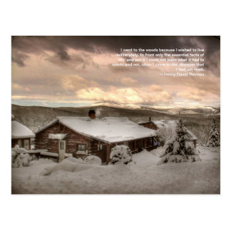 A Cabin Snug in the Mountains: Thoreau Postcard
