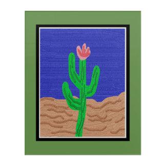 A Cactus Flower Acrylic Wall Art