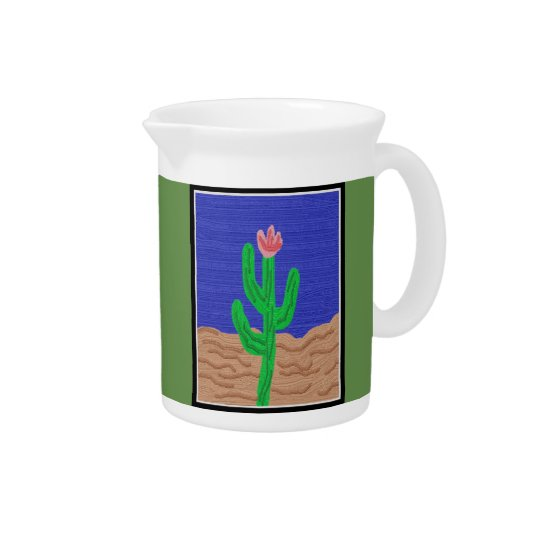 A Cactus Flower Pitcher