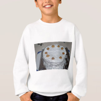 A cake with frosting sweatshirt