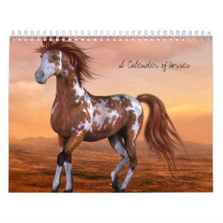A Calender of Horses Wall Calendar