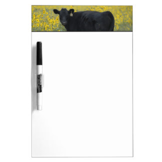A calf amid the sunflowers of the Nebraska Dry Erase Boards