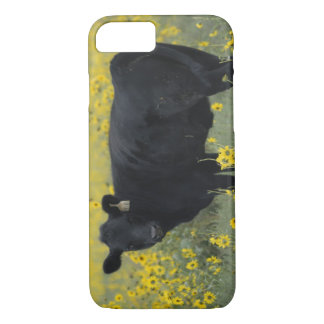 A calf amid the sunflowers of the Nebraska iPhone 8/7 Case