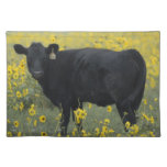 A calf amid the sunflowers of the Nebraska Placemats