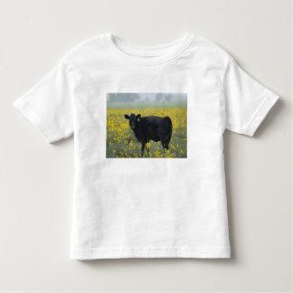 A calf amid the sunflowers of the Nebraska Toddler T-Shirt