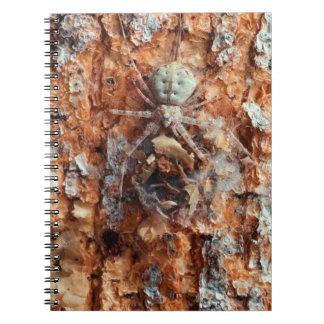 A Camouflaged Bark Spider Spiral Notebook