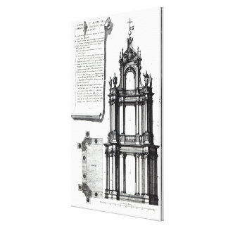 A campanile designed for St. Peter's, Rome Canvas Print