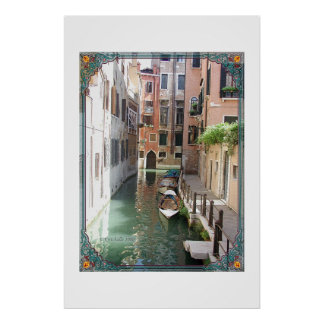 A canal street in Venice Poster